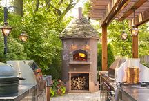 Outdoor kitchen, Pizza ovens