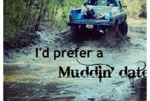 Trucks and mud