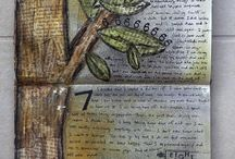 Art journaling, collage mm