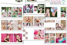 Accordion and Full Size Album Templates / Modern, Professional Album Designs- 3x3 Accordion Albums, 4x8 Accordion Albums, 8x8, 10x10 and 12x12 Press Printed Album Designs.  Fully layered .psd Photoshop files for Photographers and Designers.