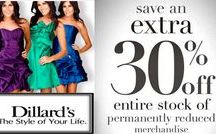 Dillards Coupon Codes 2017: $35 OFF Promo Code / Enjoy up to $35 OFF with Dillards Coupon Codes 2017 or Promo Code at Promo-code-land.com. Dillards is the one of the nation's largest fashion apparel, cosmetics and home furnishings retailers offers a broad selection of merchandise and feature products such as (shoes, apparel, cosmetics, lingerie, and home accessories and many more) from both national and exclusive brand sources.