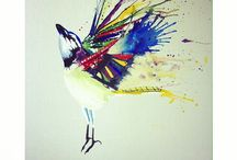 Explosive Bird Works / All of my works, varying from Painting to Installation to Sculpting.