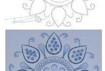 Borduur kaarten patronen