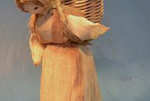 výrobky starých řemesel / výrobky z kukuřičného šustí