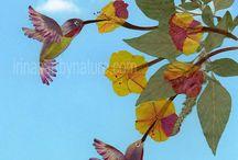 Pressed flower art