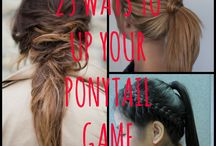 25 Ways To Up Your Ponytail Game!