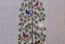 Vyšívání - Christmas Trees and Decorations