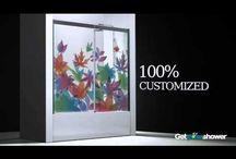 Custom-made shower enclosures / Made to measure and customized bath shower enclosures.