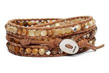 Leather wrap bracelets