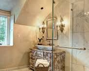 French Country-inspired Bathrooms / Inspiration/ideas for French Country/Bistro bathroom styles