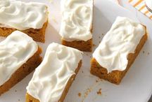 Pumpkin bars / by Donna Whitesell