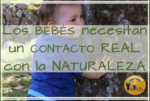 Bebés y naturaleza / Juegos y actividades para que los bebés exploren en la naturaleza.