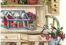 Мотивы для декупажа и скрапбукинга / Всякие полезные и красивые картинки на тему кухни, сада-огорода, интерьера и прочих интересных вещей!