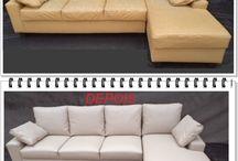 Sofá chaise reformados / Reformas