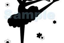 Silhouettes de ballerines