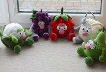 amigurumi meyve ve sebze oyuncaklar