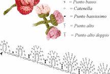 Horgolt virágok, apróságok