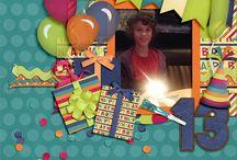 Scrapbooking - Birthdays