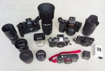 Camera Gear / Cameras and Photographic Equipment that I own or what I would like to add to my bag.