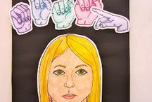 Portrait/ Self portrait lesson / by Ashley Lehenbauer