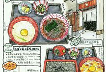 Japanese Food Illustration / from Okayama Go Go Gourmet Corps