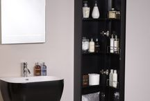 Small Bathroom Storage Ideas / Wall mounted storage units are ideal for keeping your bathroom floor clear. This can help with your household cleaning routine, as well as visually enhancing the space available in your bathroom and making the room seem larger.