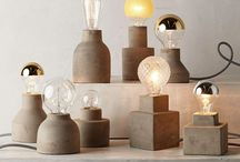Edison bulbs - concrete
