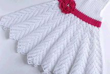 Crochet dress for baptism