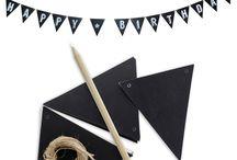 Sort og hvit festdekor / Her finner du inspirasjon og produkter til Black & White fest.