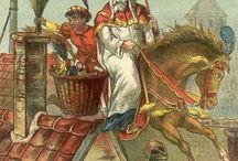 Sint Nicolaas Sinterklaas & Bruin paard