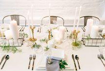 geometric urban wedding