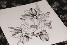 flores lápis