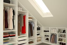walk in closet sloped ceiling