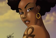 The afro & the ankh