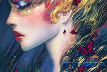 Faces\Fairies\Masks\Dragons etc
