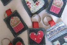 Textile,vopsire, sew art, sashiko, old jeans