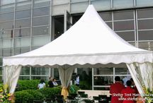 Pagoda & Gazebo Tent / Shelter's pagoda tents are suitable for exclusive parties, as well as for individual presentations and major events.   Gazebo tent provide the means to create eye-catching tensile roof structures. Together with ease of assembly and perfect build-quality, the gazebo tent provides the perfect solution for a vast range of applications.