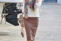 Leather Pencil Skirt for Urban Outfit