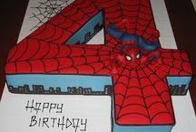 spiderman cakes, cookies, cupcakes