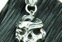 Skull 925 sterling silver pendant Charm