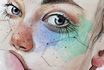 aquarell portraits