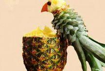 perroquet ananas