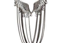 Addons Antique Silver Wings Multi Strand Neckpiece