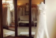 """Our studio / The Wedding Party appointment studio offers an intimate, comfortable space where a bridal party can make themselves at home as they peruse an extensive and carefully selected collection of sample dresses. Located just off the bustling retail and restaurant mecca of College Avenue in Berkeley, The Wedding Party is """"the shop around the corner,"""" tucked away in a charming second story 1920's loft."""