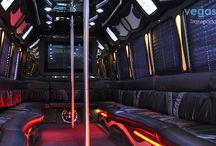 Las Vegas Party Bus / Featuring VIP party bus selection of our fleet as well as other LAs Vegas companies. Party bus is featuring stripper pole, seating up to 30 people, and DJ booth to party during the transportation.