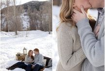 Winter and Christmas Wedding and Engagement Photos / Winter Wedding Photos