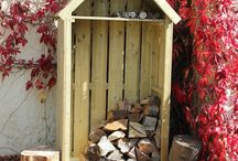 High Hinton Log Store / The High Hinton Log Store is a sentry-box style 6ft tall wood store, available at 2ft wide or 3ft wide. This Log Store is a stylish and functional answer to log storage in a small space. It comes with an in-built kindling shelf as standard.