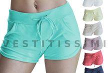 Pantaloncini donna sportivi 100% cotone shorts jogging danza