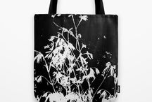 Art Prints: Tote Bags and Pouches / My artwork, abstract art, botanical art, and collage art, printed on pouches and tote bags available for purchase.