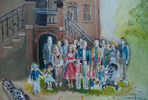live paintings / schilderijen live op locatie gemaakt